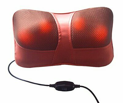 Boston Tech WE-105 Rojo, Cojín Masajeador, Almohada de Masaje Shiatsu para