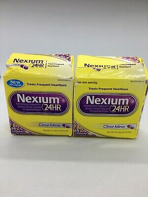 Nexium 24 HR 20mg Acid Reducer 14 Clear Minis Two Pack 28 Total New