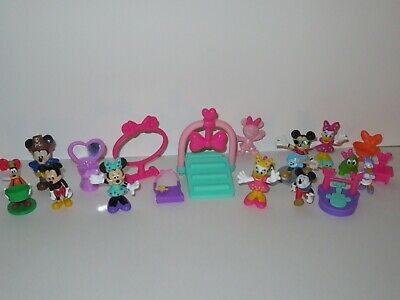 Disney Mickey Minnie Mouse Bowtique Clubhouse Action Figure Toy LOT Daisy Duck