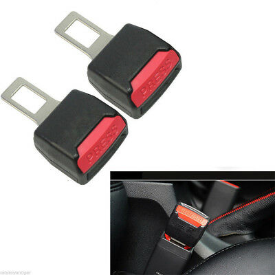 Universal Safety Seat Belt Buckle Clip Extender Car Safety Alarm Stopper 1 Pair