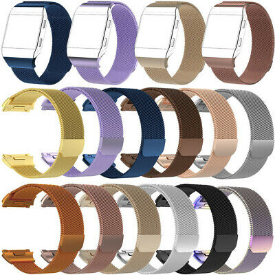Milanese Magnetic Loop Stainless Steel Strap Band For Fitbit Watch Ionic