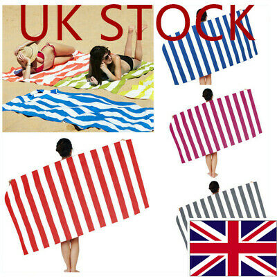 UK Summer Stripe Extra Large Microfibre Beach Towel Quick Drying Absorbed Towel