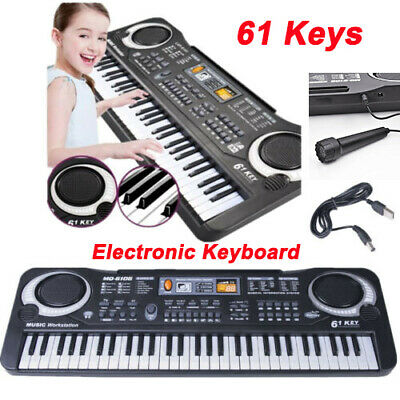61 Keys Electric Keyboard Digital Music Electronic Organ Piano & Microphone Sets