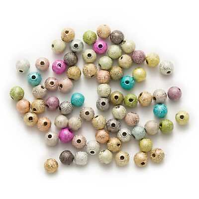 Random Mixed Stardust Acrylic Round Matte Jewelry Making Spacer Beads 4-16mm