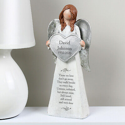 Personalised Memorial Angel Ornament Grave Graveside Ornaments In Memory