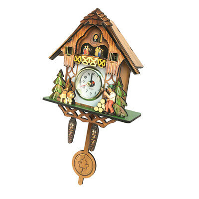 Antique  Style Cuckoo Wall Clock Vintage Wood Clock Home Decor Excellent Gift A