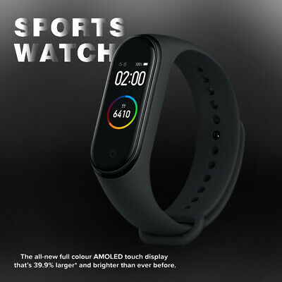 2019 Per XIAOMI MI BAND 4 bluetooth SMART OROLOGIO SPORT WATCH GLOBAL VERSION
