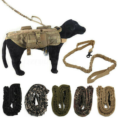 Tactical Police K9 Dog Training Leash Elastic Bungee A Canine  Military