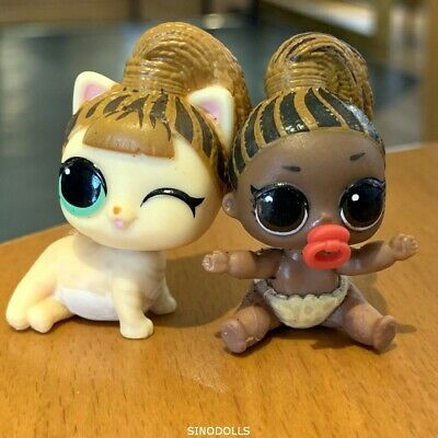 2 LOL Surprise Doll LIL FIERCE MEOW KITTY Baby Pet LITTLE PETS MAKEOVER Toy Gift