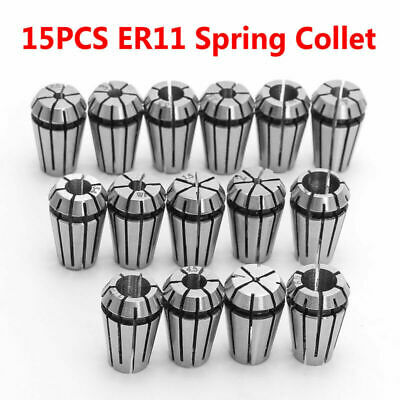 15 Piece Spring Collet Chuck Set ER11 CNC Milling Lathe Tool Engraving Steel New