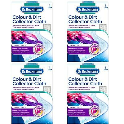 DR BECKMANN Colour & Dirt Collector Cloth Washing Machine Laundry Protector x 4