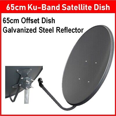 Ku-Band Oval Offset Satellite Dish with Bracket Galvanised Steel Roof Reflector