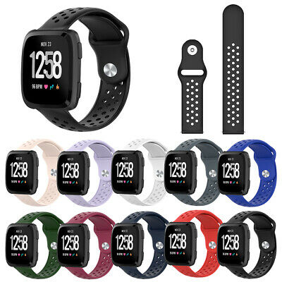 CG_ Replacement Breathable Soft Silicone Watch Band Wrist Strap for Fitbit Versa