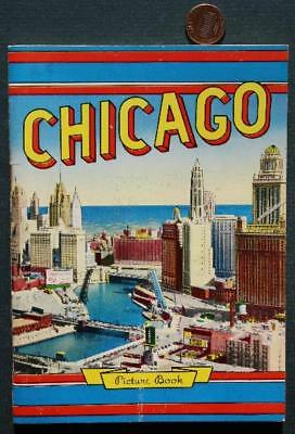 1950s Chicago,Illinois pictorial souvenir guidebook-Wrigley Field-Comiskey Park*