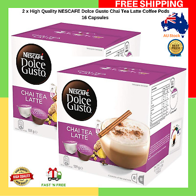 2 x High Quality NESCAFE Dolce Gusto Chai Tea Latte Coffee Pods 16 Capsules