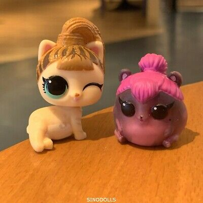 2PCS LOL Surprise Doll LIL FIERCE MEOW KITTY Baby & SPICE LITTLE PETS MAKEOVER