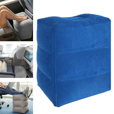 Cg_ Inflatable Foot Rest Travel Air Pillow Cushion Home Leg Up Footrest Relax Fl