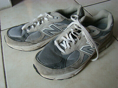 new styles 253e2 793d1 MENS NEW BALANCE 990 M990Gl3 Gray & White Running Shoes Size ...