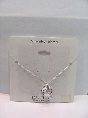 10060 OLD PAWN  Sterling Silver Crystal Heart charm necklace