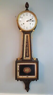 Waterbury Clock Co. Willard #5 Banjo Clock Time & Strike For Restoration Antique