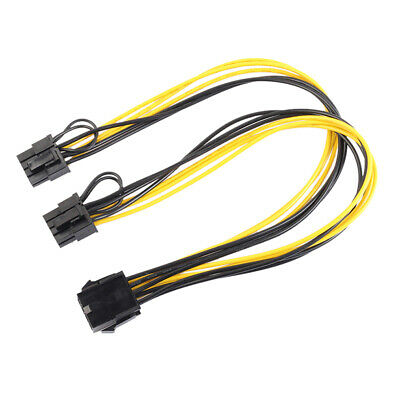 PCIE 8 Pin to Dual 8(6+2) Pin Video Card Y Splitter Adapter Power Cable 30cm