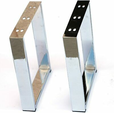 """Heavy Duty Square Coffee Table, Bench Legs 16""""H Shiny Brass, Stainless Steel or"""