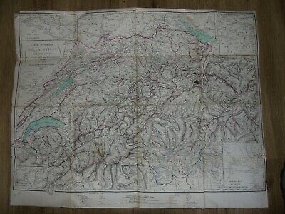 hyacinthe langlois map from Switzerland to Paris folded map in slipcase 1820
