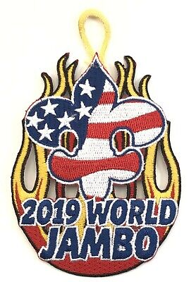 2019 World Jamboree Flag and Flame patch