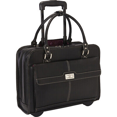 Samsonite Women's Laptop Mobile Office - Black Wheeled Business Case NEW