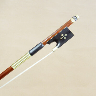 Gold Mounted violin bow 4/4 Size Warm Tone Pernambuco Straight and well balanced