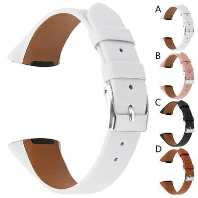 For Fitbit Charge 3 Strap Genuine Leather Replacement Luxury Wristband Band