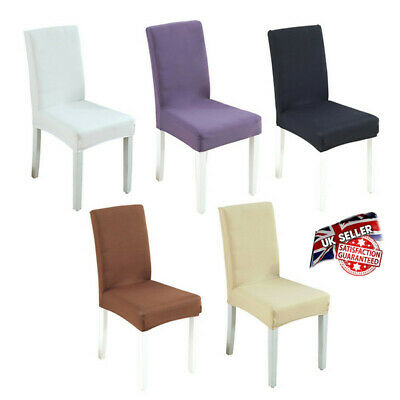 UK Universal Elastic Chair Soft Cover Stretch Dining Chair Seat Protector Cover