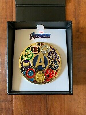 MARVEL AVENGERS Deluxe Spinning Enamel Pin SDCC 2019 Comic Con EXCLUSIVE