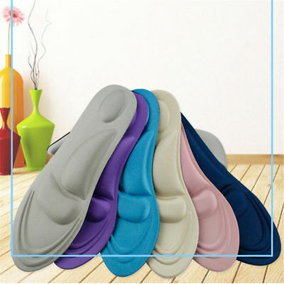 4D Orthotic Flats Feet Foot High Arch Gel Heel Support Shoe Inserts Insoles Pads