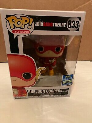 Funko Pop! Big Bang Theory: Sheldon Cooper As The Flash #833 Shared SDCC In Hand