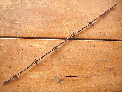 BROTHERTONS CLOSE-SET LONG & SHORT POINTS on ROUND & FLAT  - ANTIQUE BARBED WIRE