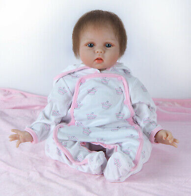 "22"" Reborn Dolls Soft Silicone Real Life Newborn Baby Toys Handmade Best Gifts"