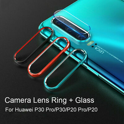 Ultra Thin Tempered Glass Camera Lens Film+Protective Ring For Huawei P30 20Pro