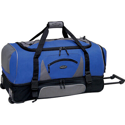 "Travelers Club Luggage Adventure 36"" Rolling 2-Tone Travel Duffel NEW"