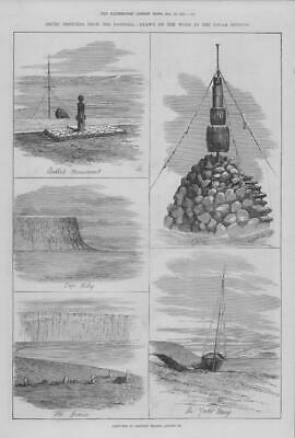 1875 Antique Print - ARCTIC EXPEDITION Pandora Cape Riley Yacht Mary (238)