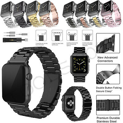 For Apple Watch Series 5 4 3 2 1 Replacement Bracelet Strap Metal Band 40mm 44mm