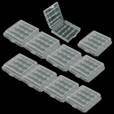 10pcs Hot Sale Hard Plastic Clear Case Cover Holder AA/AAA Battery Storage Box