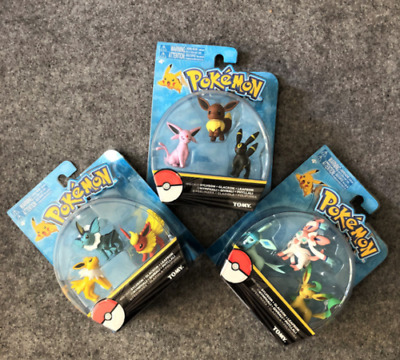 Gift Pokemon Go eevee evolution family action figure toys dolls 2inches 3Sets