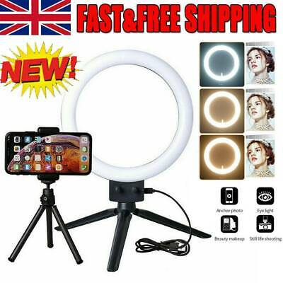 10'' LED Ring Light Dimmable Lighting Kit Selfie TripodMakeup Youtube Live Phone