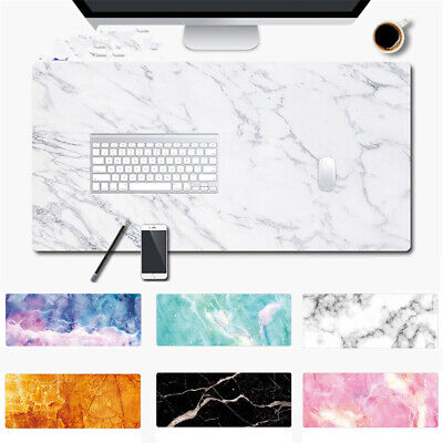 SoftRubber Computer Desk Mat Marble Grain Mouse Pad Keyboard Large Table Cushion