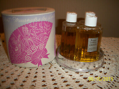 Vtg 50's Lentheric Three Silent Messengers Tweed,Confetti, Miracle 2 oz perfumes