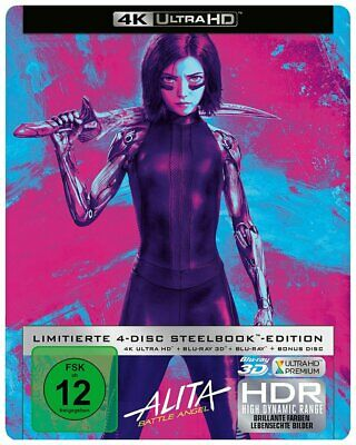 Alita: Battle Angel - Blu-ray 3D+2D + 4K Ultra HD - Steelbook # BLU-RAY-NEU