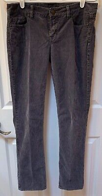 J.Crew Womens City Fit Vintage Matchstick Corduroy Pants 27S Grey Skinny Leg