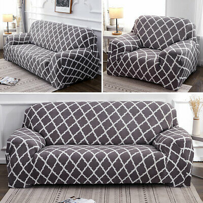 1-4 Seater Elastic Floral Sofa Covers Slipcover Settee Stretch Couch Protector