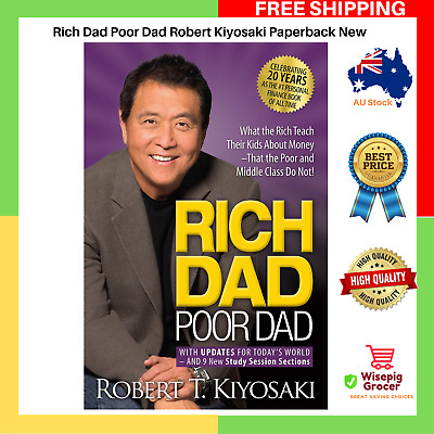 Rich Dad Poor Dad by Robert Kiyosaki | Paperback Book | NEW | FREE SHIPPING